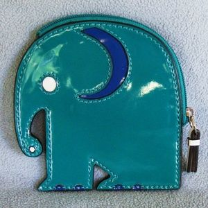 Coach Turquoise Elephant coin case purse